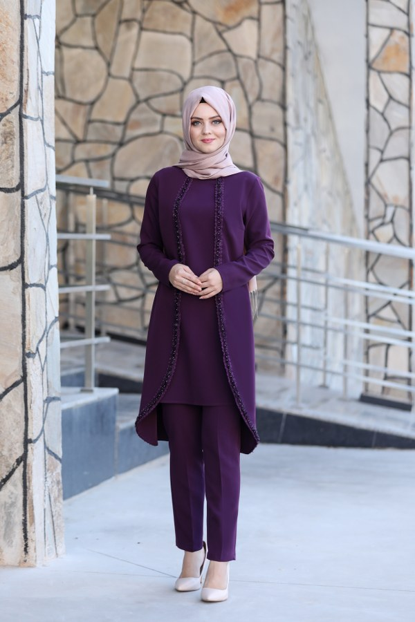 Ahunisa- Hale Suit-Purple