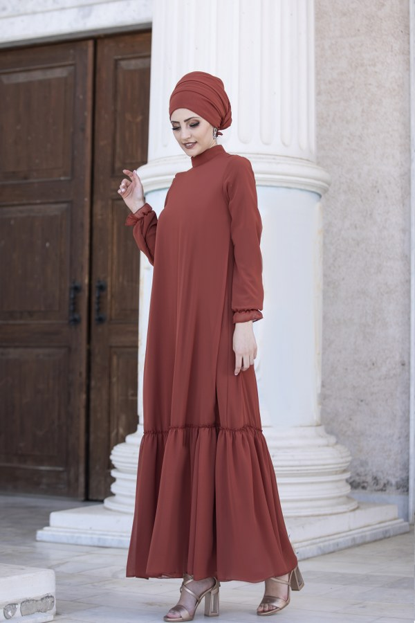 Arya Dress - Kiremit