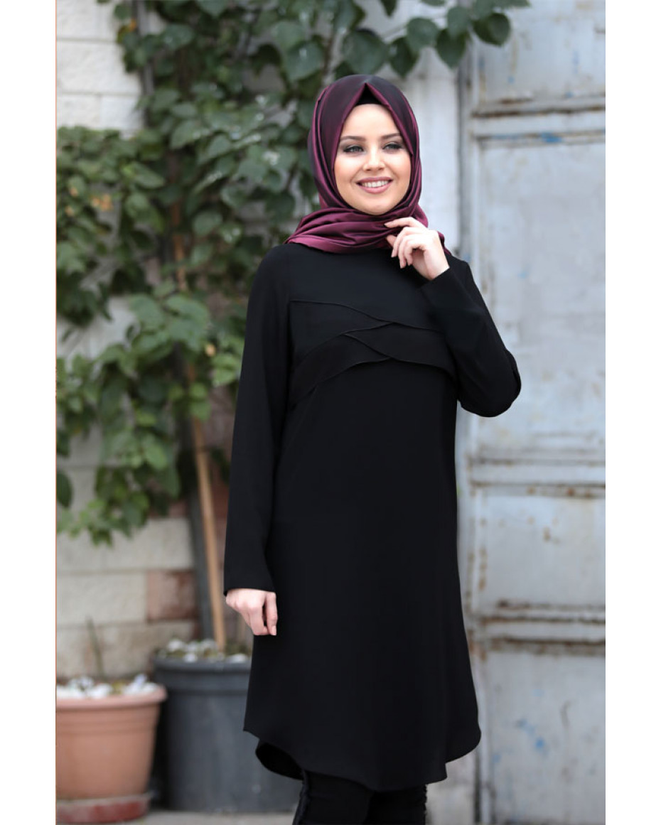 Pelerin Tunic Black