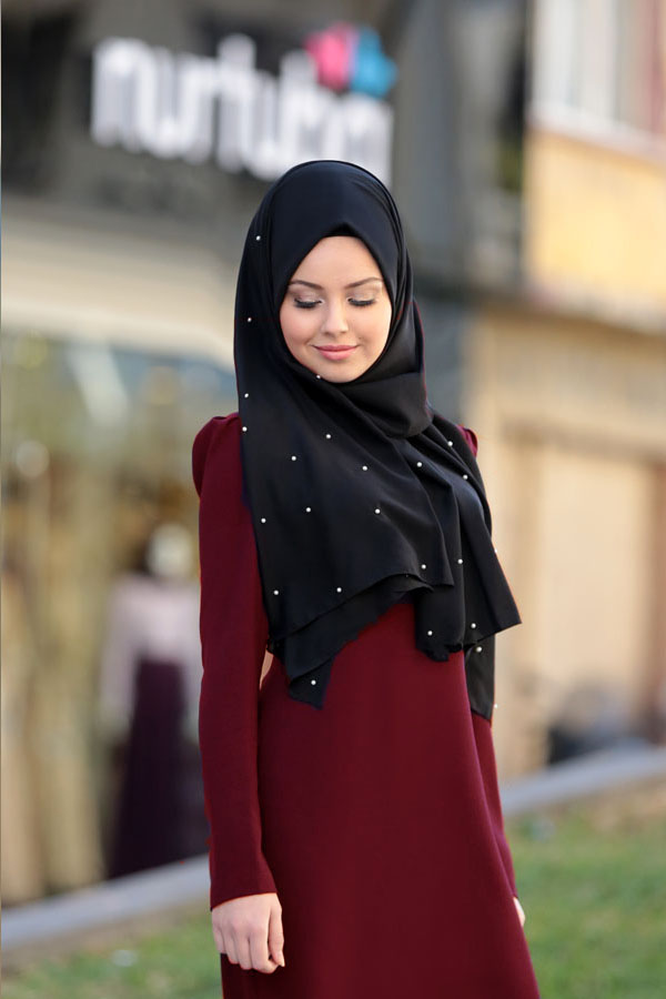 Defne Dress Claret Red