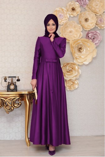 Akasya Dress-Purple