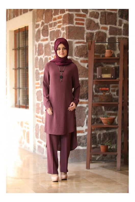 Hazan Suit Plum