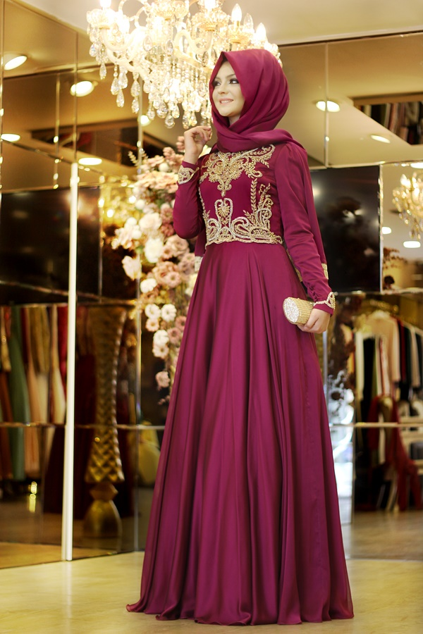 Pınar Şems sahra Dress-fuchsia